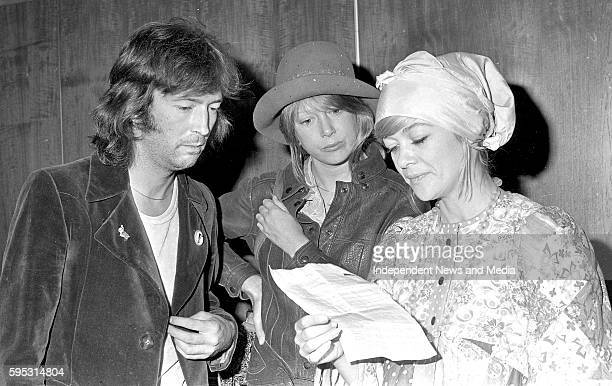 Eric Clapton and Judy Geeson