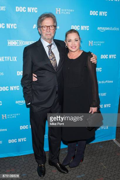 Eric Clapton and Lili Fini Zanuck attend the 2017 DOC NYC closing night screening of 'Eric Clapton Life In 12 Bars' at SVA Theatre on November 16...