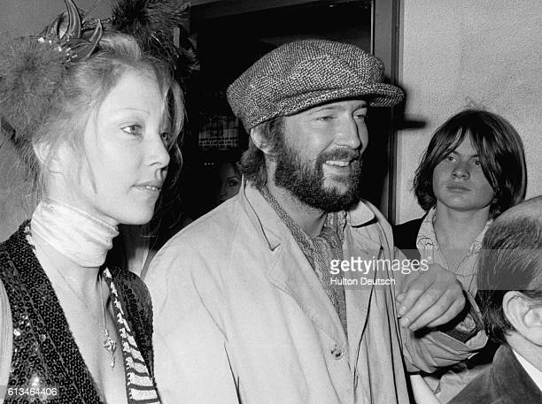 Eric Clapton and Patti Boyd arrive in Leicester Square for the premiere of Tommy