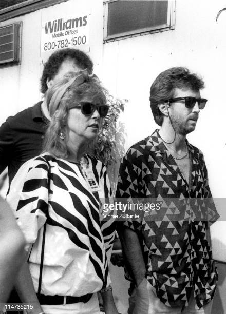 Eric CLapton and wife Patti backstage at Live Aid Philadelphia