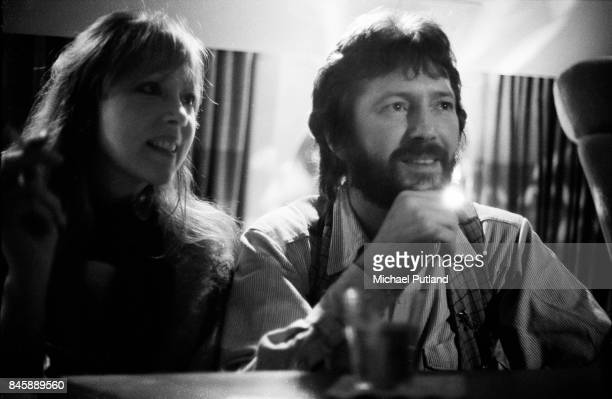 Eric Clapton and wife Patti Boyd touring the East coast of the USA on a private plane 1977