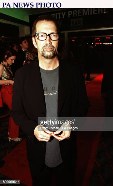 Eric Clapton arrives at the premiere of the film 'Nil by Mouth' at the Odeon West End in London