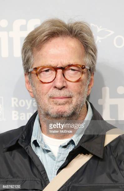 Eric Clapton attends the 'Eric Clapton Life in 12 Bars' photo call during the 2017 Toronto International Film Festival at TIFF Bell Lightbox on...