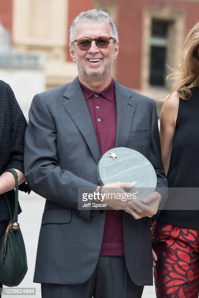 Eric Clapton attends the launch of the Royal Albert Hall 'Walk Of Fame' at Royal Albert Hall on September 4 2018 in London England
