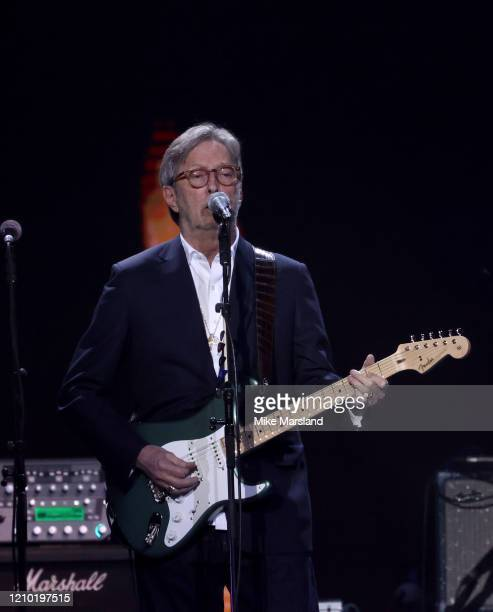 Eric Clapton attends the Music For Marsden 2020 at The O2 Arena on March 03 2020 in London England
