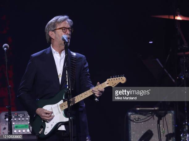 Eric Clapton attends the Music For The Marsden 2020 at The O2 Arena on March 03 2020 in London England
