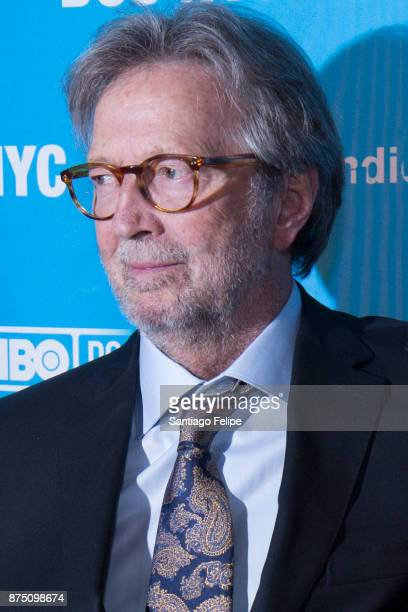 Eric Clapton attends the NYC Closing Night Screening of 'Eric Clapton Life In 12 Bars' at SVA Theatre on November 16 2017 in New York City