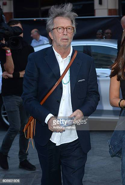 Eric Clapton attends the World premiere of 'The Beatles Eight Days A Week The Touring Years' at Odeon Leicester Square on September 15 2016 in London...