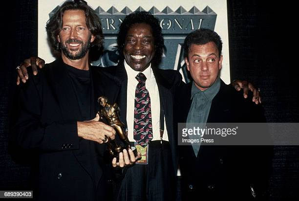 Eric Clapton Buddy Guy Billy Joel attend the 2nd Annual International Rock Awards circa 1990 in New York City
