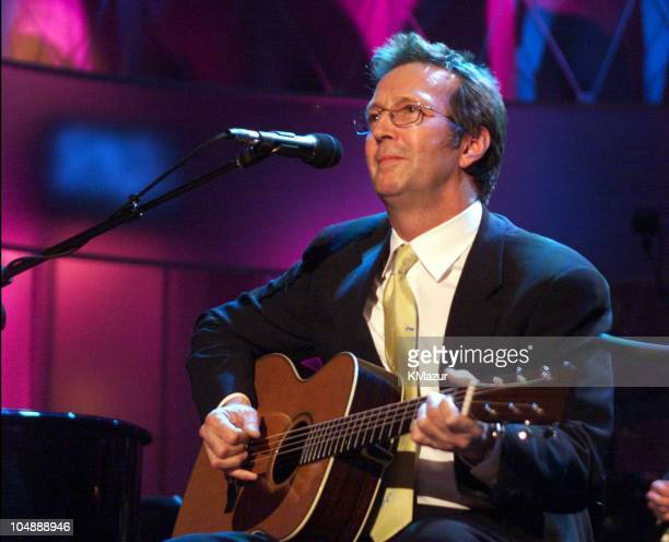 Eric Clapton during 15th Annual Rock and Roll Hall of Fame Induction Ceremony, 2000 at Waldorf=Astoria in New York, New York, United States.