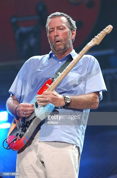 Eric Clapton during Crossroads Guitar Festival Day Three at Cotton Bowl Stadium in Dallas Texas United States