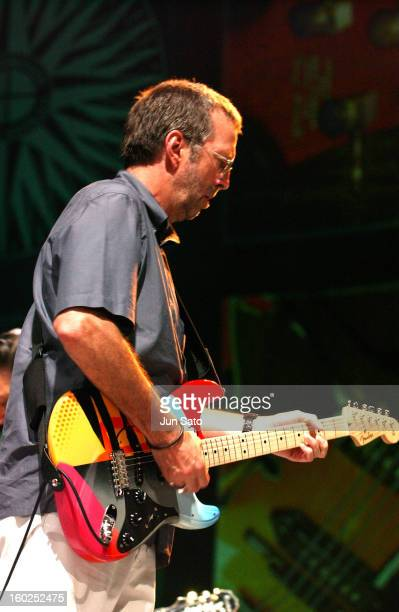 Eric Clapton during Crossroads Guitar Festival Day Two All Star Blues Jam Hosted by Eric Clapton at Fair Park in Dallas Texas United States