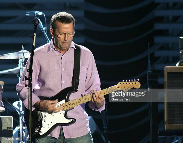 Eric Clapton during Eric Clapton in Concert at The Ahoy' in Rotterdam June 1 2006 at Ahoy' in Rotterdam Netherlands