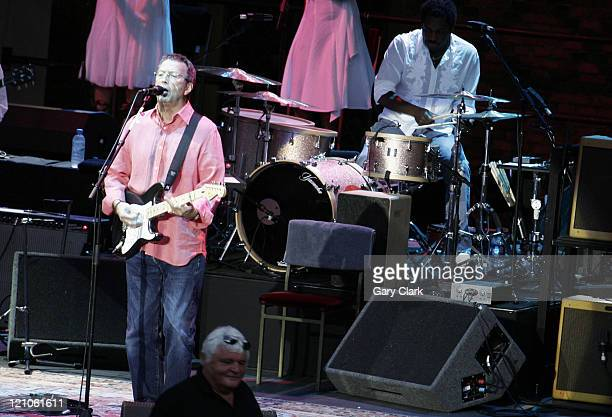 Eric Clapton during Eric Clapton in Concert at the Hampton Court Palace Festival June 10 2006 at Hampton Court Palace in Hampton Court Great Britain