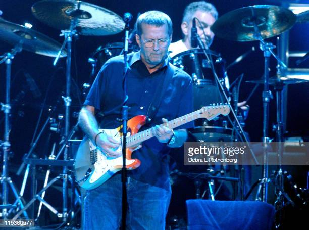 Eric Clapton during Eric Clapton Live in Concert June 28 2004 at Madison Square Garden in New York City New York United States