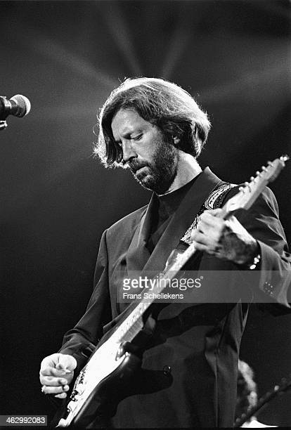 Eric Clapton, guitar, performs at the Statenhal in the Hague, the Netherlands on 24th February 1990.