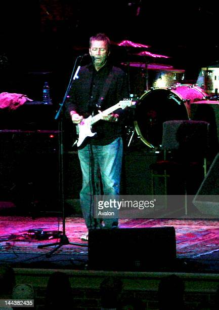 Eric Clapton in concert performing Live at Hampton Court Palace 9th June 2006 part of the Hampton Court Festival 2006 Job 12345 Ref...