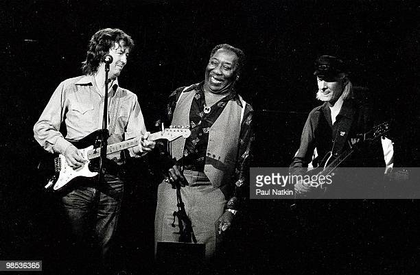 Eric Clapton Muddy Waters and Johnny Winter on 6/12/79 in Chicago Il
