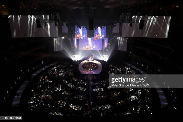 Eric Clapton on stage during The Fashion Awards 2019 held at Royal Albert Hall on December 02 2019 in London England