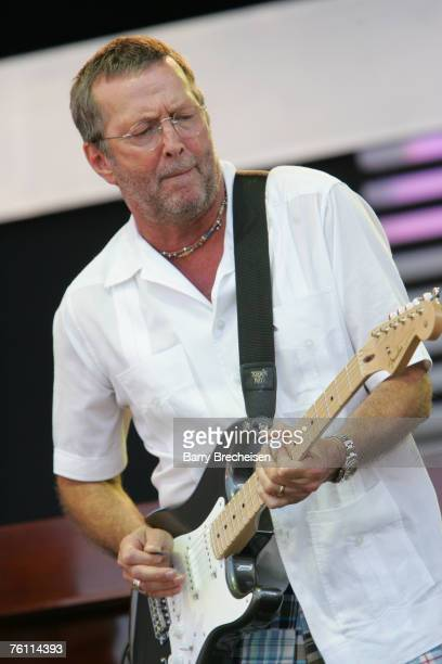 Eric Clapton performs at Eric Clapton's Crossroads Guitar Festival 2007 held at Toyota Park on July 28 2007 in Bridgeview Illinois
