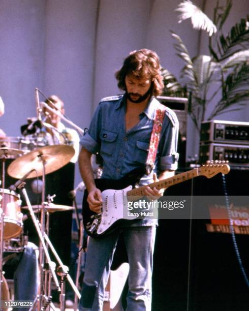 Eric Clapton performs at Frost Amphitheatre in Palo Alto California on August 9 1975