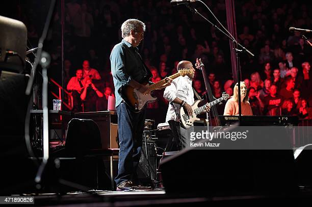 Eric Clapton performs at the Eric Clapton's 70th Birthday Concert Celebration at Madison Square Garden on May 1 2015 in New York City