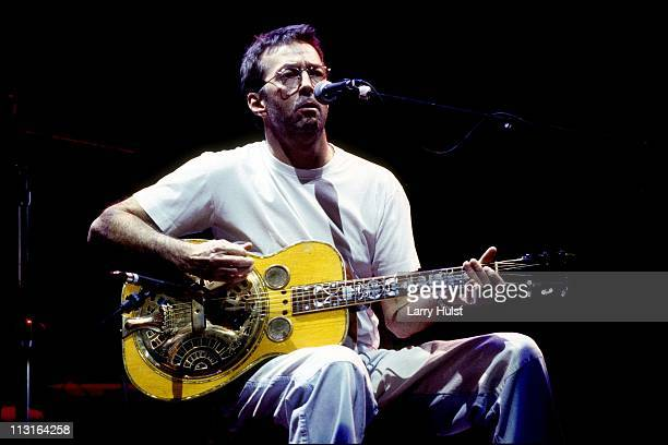 Eric Clapton performs at the McNichols Arena in Denver Colorado on October 31 1994