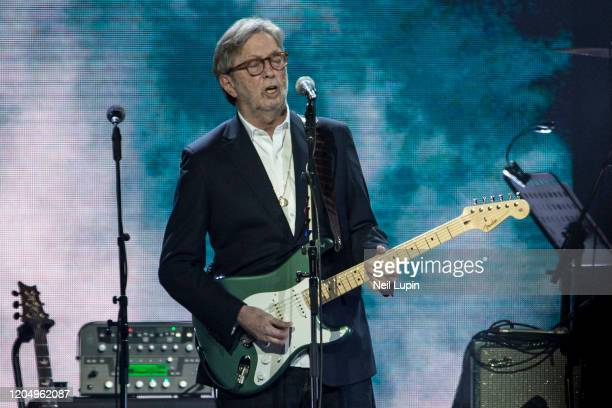 Eric Clapton performs at the Music For Marsden 2020 at The O2 Arena on March 3 2020 in London England