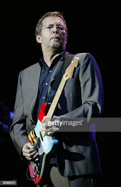 Eric Clapton performs at the 'One Generation 4 Another' show at the Royal Albert Hall on March 15 2004 in London The special oneoff twohour event is...