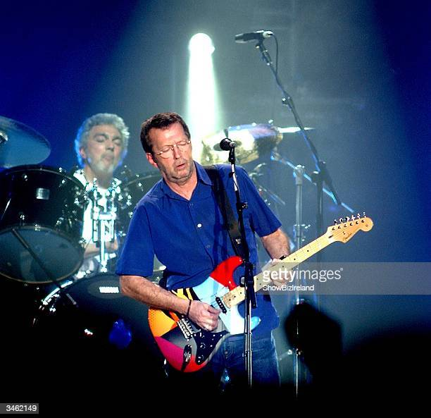Eric Clapton performs at the Point Theatre April 23 2004 in Dublin Ireland