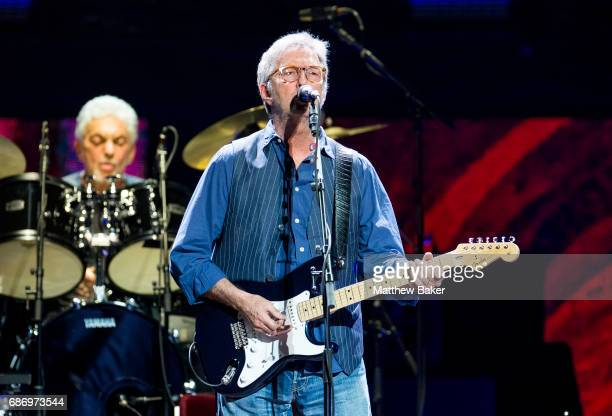 Eric Clapton performs at the Royal Albert Hall on May 22 2017 in London England