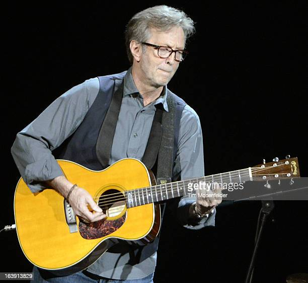 Eric Clapton performs in support of his 'Old Sock' release at the Frank Irwin Center on March 17 2013 in Austin Texas