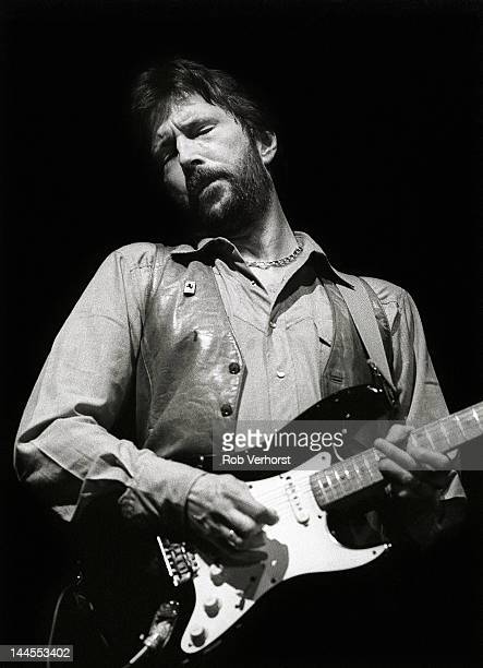 Eric Clapton performs on stage at Ahoy Rotterdam Netherlands 23rd April 1983