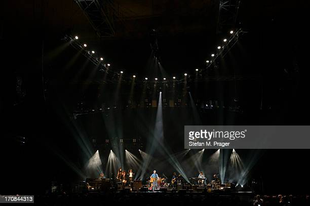 Eric Clapton performs on stage at Olympiahalle on June 9 2013 in Munich Germany