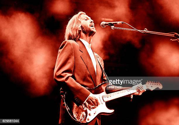 Eric Clapton performs on stage at the Royal Albert Hall London 1991