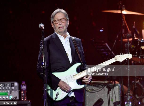 Eric Clapton performs on stage during Music For The Marsden 2020 at The O2 Arena on March 03 2020 in London England