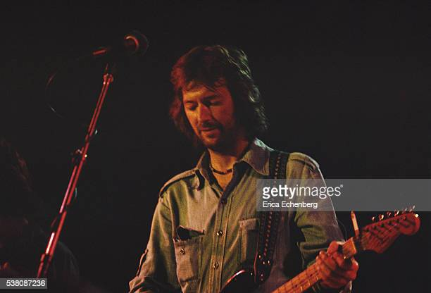 Eric Clapton performs on stage London 1975