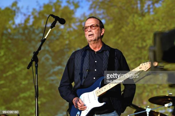 Eric Clapton performs on the Great Oak Stage at Barclaycard Presents British Summer Time Hyde Park at Hyde Park on July 8 2018 in London England