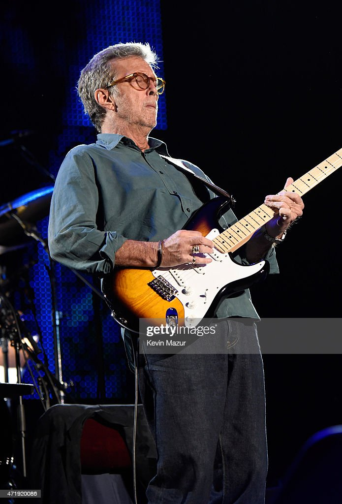 Eric Clapton performs onstage during his 70th Birthday Concert Celebration at Madison Square Garden on May 1, 2015 in New York City.