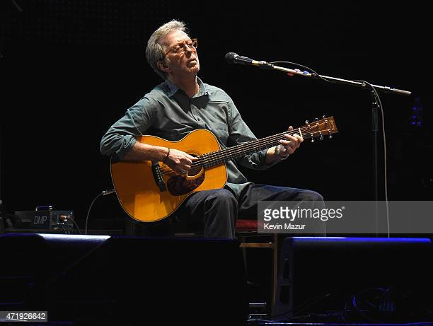 Eric Clapton performs onstage during his 70th Birthday Concert Celebration at Madison Square Garden on May 1 2015 in New York City