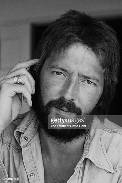 Eric Clapton poses for a portrait at his rented home at 461 Ocean Blvd in April1974 in Golden Beach Florida