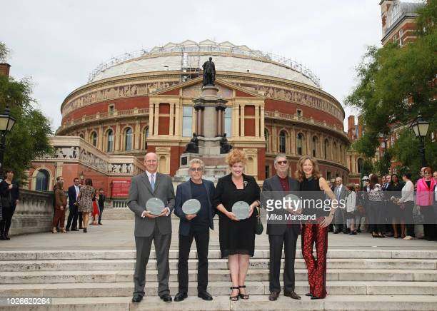 Eric Clapton Roger Daltrey Eve Ferret Katie Derham and Randolph Churchill attend the launch of the Royal Albert Hall 'Walk Of Fame' at Royal Albert...