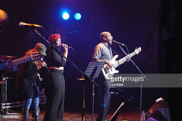 Eric Clapton singer Shar White Michelle John and Nathan East