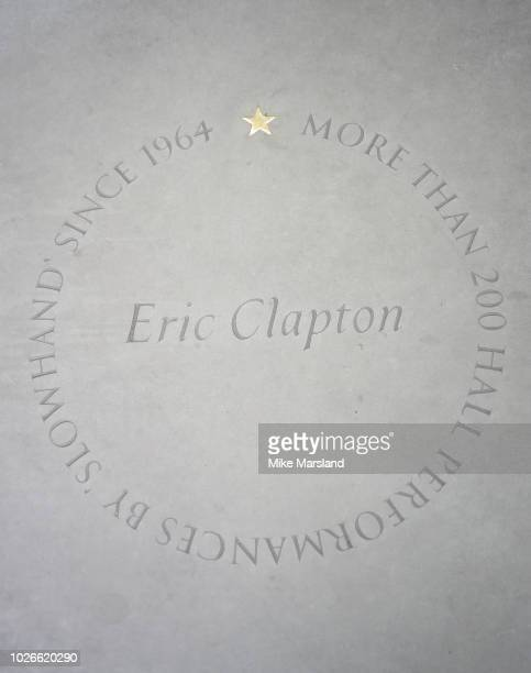 Eric Clapton star at the Royal Albert Hall 'Walk Of Fame' at Royal Albert Hall on September 4 2018 in London England