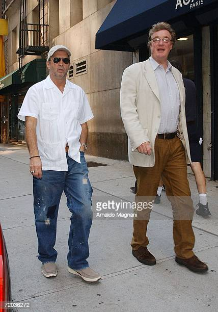 Eric Clapton walks on Madison Avenue to a restaurant with his friend September 28 2006 in New York City