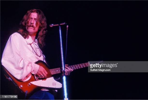 Eric Clapton with his guitar eyes closed long hair The Cream was indeed the cream of British rock musicians and the competition was obvious even on...