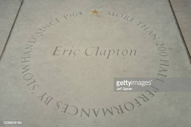 Eric Clapton's star at the Royal Albert Hall 'Walk Of Fame' at Royal Albert Hall on September 4 2018 in London England