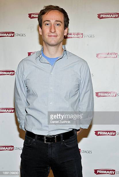 Eric Clem attends the All In The Timing press preview at Primary Stages Rehearsal Studio on January 8 2013 in New York City