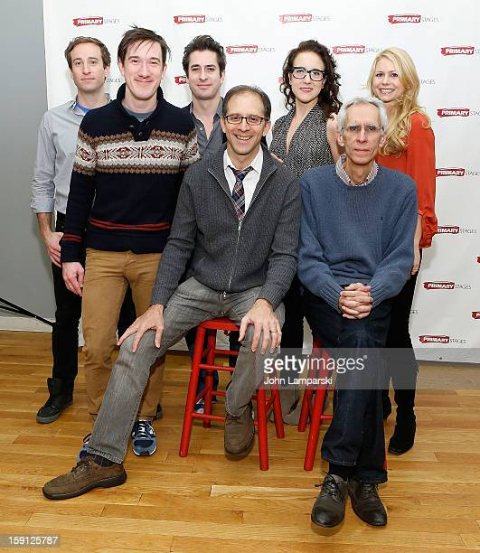 Eric Clem Carson Elrod Matthew Saldivar Director John Rando Jenn Harris Playwright David Ives and Liv Rooth attend the All In The Timing Press...