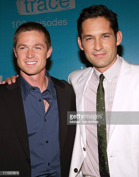 Eric Close and Enrique Murciano during 'Without A Trace' Celebrate Their 100th Episode Party Arrivals at Cabana Club in Hollywood California United...